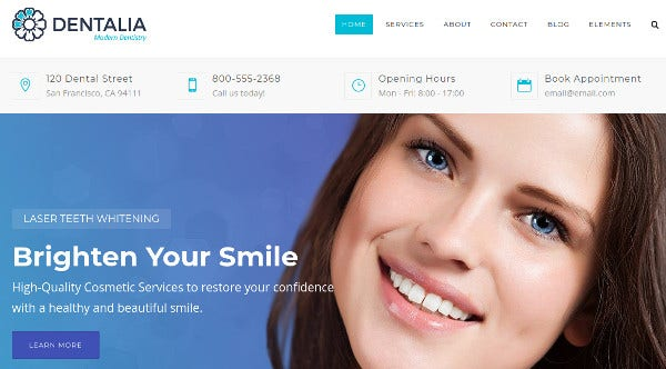 dentalia contact form 7 wordpress theme