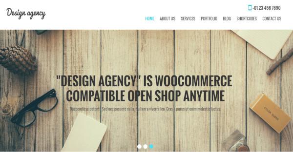 design agency pro translation ready wordpress theme