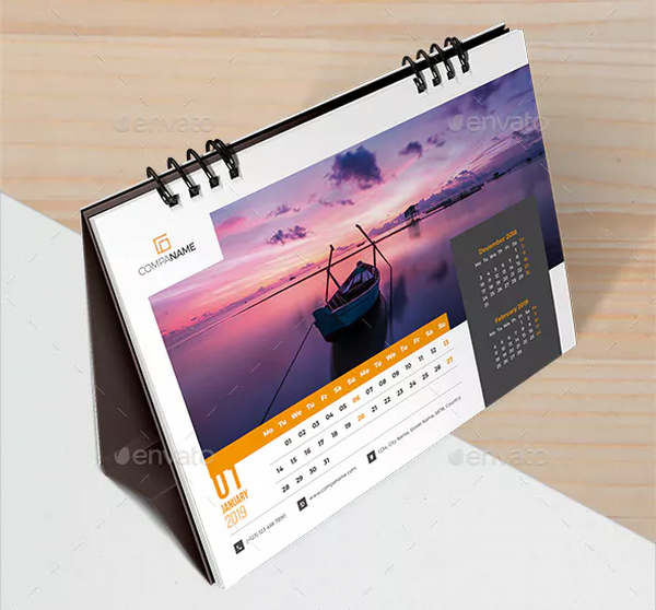 desk calendar 2019 planner
