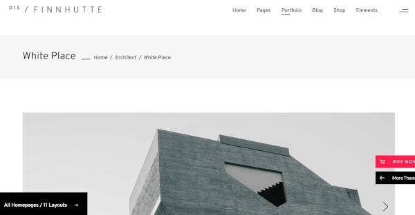 die finnhütte contemporary wordpress theme