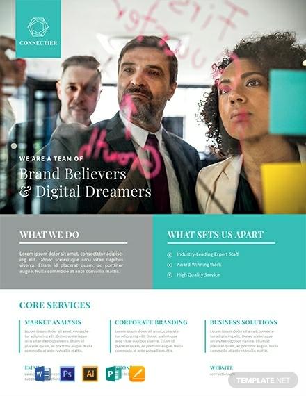 digital corporate branding flyer layout