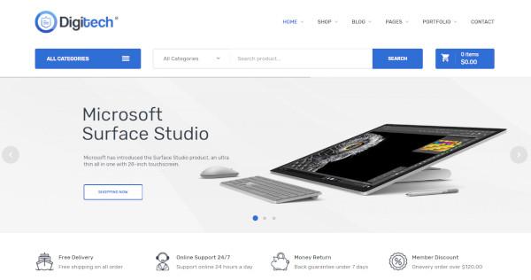 digitech – responsive tech wordpress theme