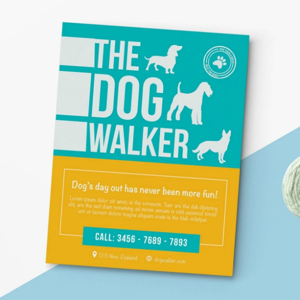 dog walking business flyer example