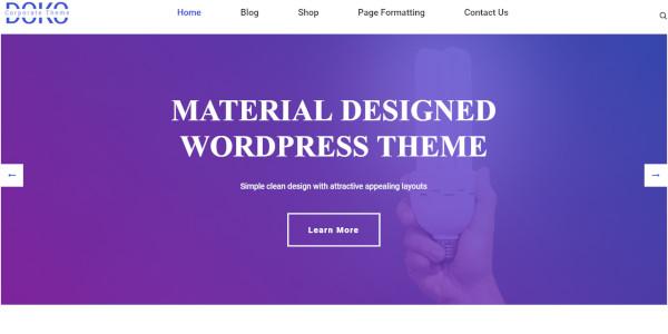 dokomaterial-responsive-wordpress-theme