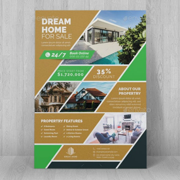 dream house real estate flyer