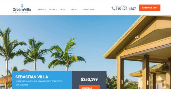 dreamvilla seo friendly wordpress theme