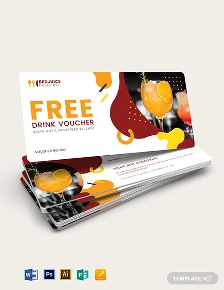 drink food voucher template