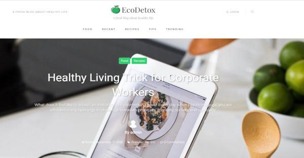Ecodetox - Drag And Drop WordPress Theme