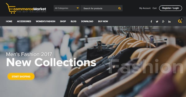 ecommerce market attractive wordpress theme