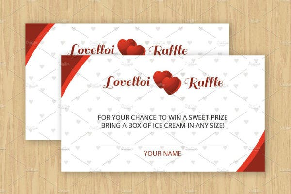editable raffle ticket template