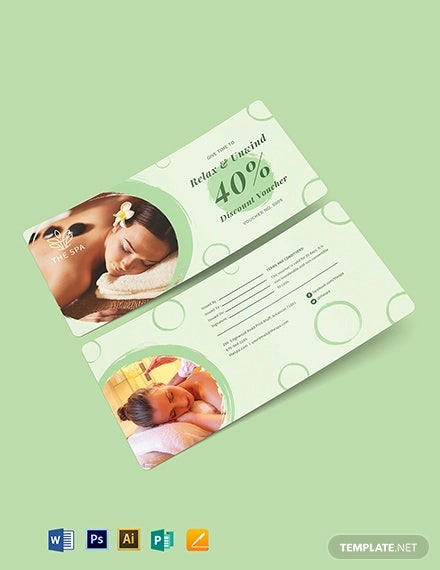 editable spa voucher template