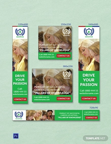 education ad banners template