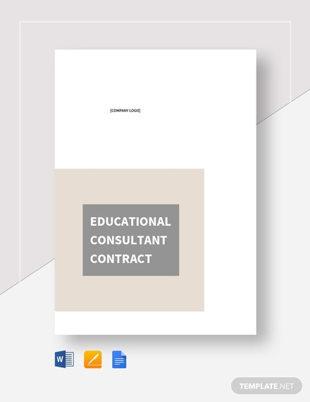 educational consultant contract
