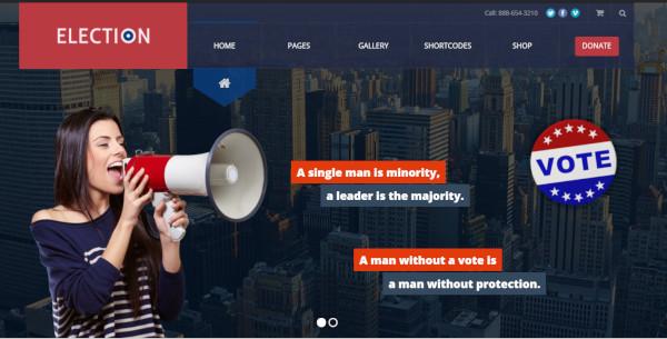 election retina ready wordpress theme