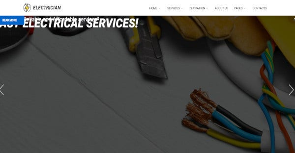 Electrician - 600 Google Fonts WordPress Theme
