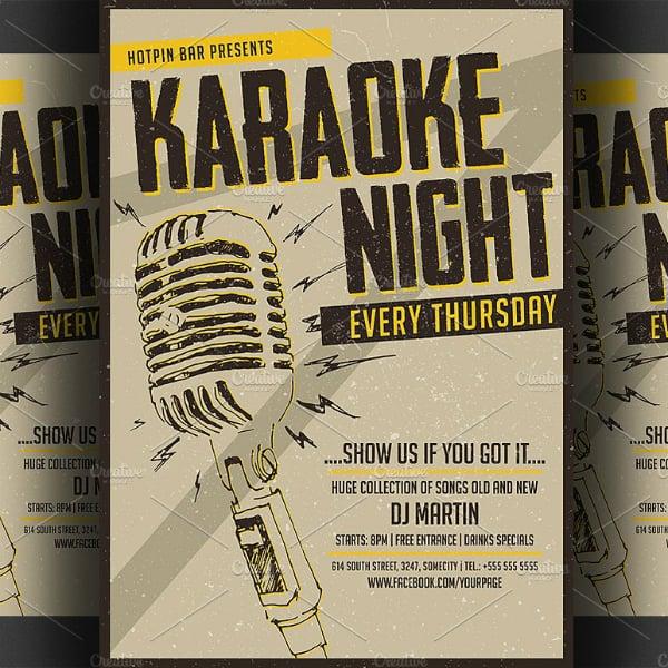 Electrifying Karaoke Night Poster Design