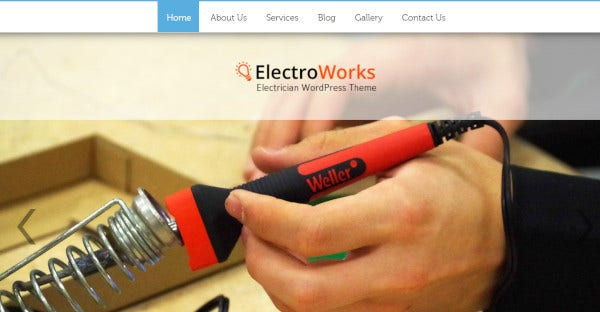 electrowork rtl compatible wordpress theme