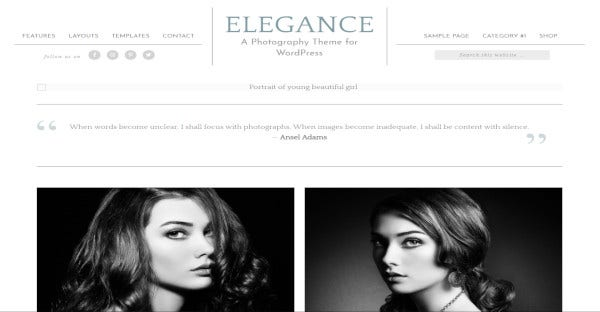 elegance – customized wordpress theme