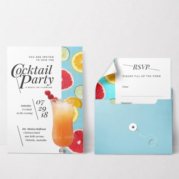 elegant cocktail party invitation design