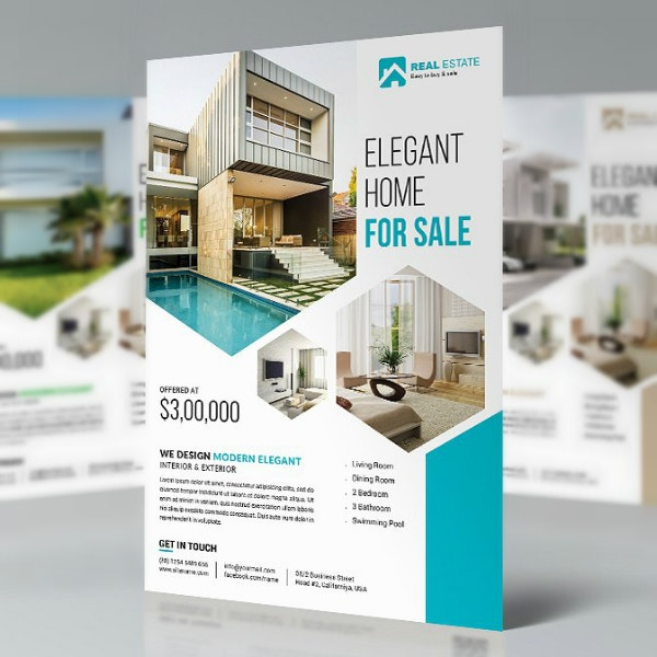elegant real estate flyer sample