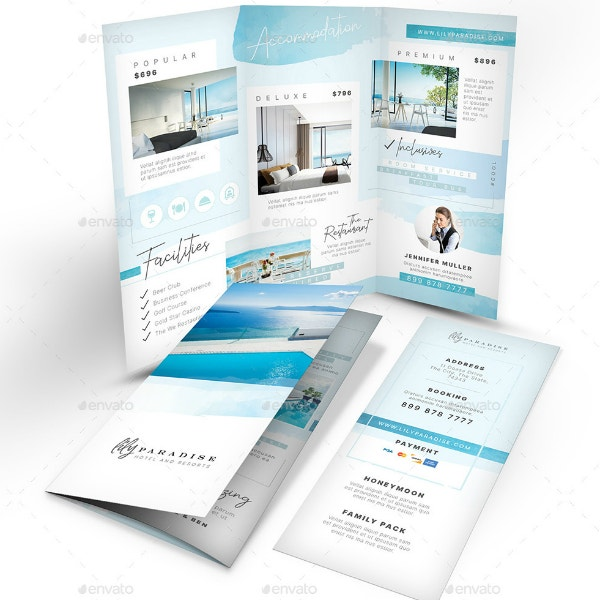 Elegant Resort Tri-Fold Brochure Template