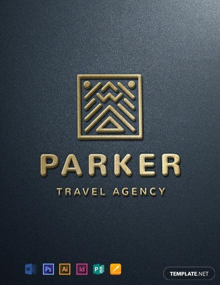 elegant travel company logo example