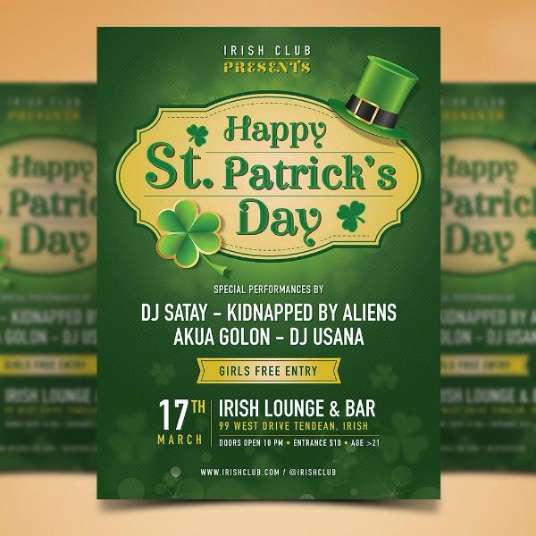 Emblem Style St Patrick's Day Poster
