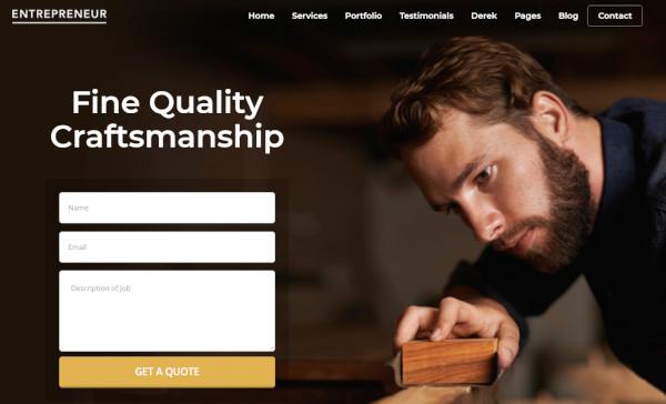 entrepreneur – responsive wordpress theme