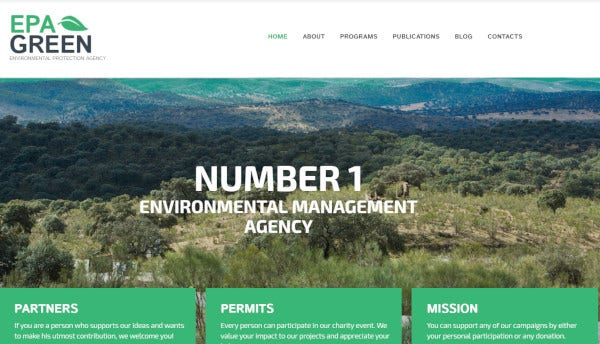 epa green html plus js codec wordpress theme