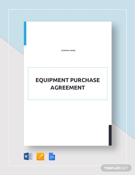 equipment purchase agreement 21