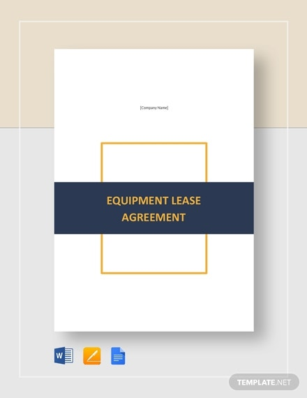 equipment lease agreement1
