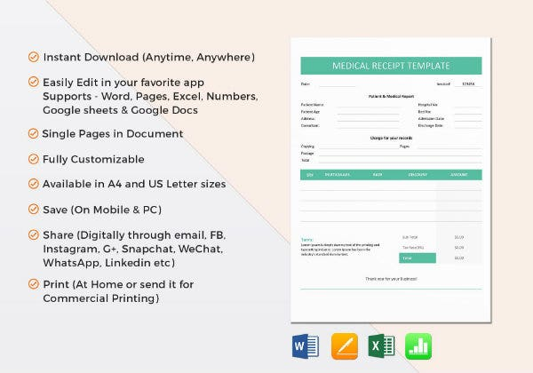example of medical receipt template11