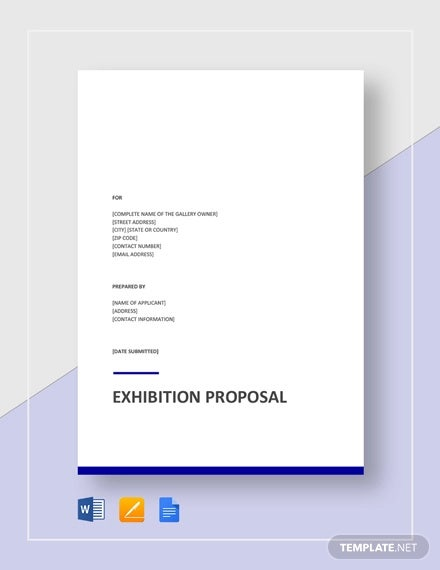 exhibition proposal template