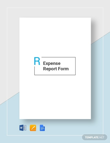 expense report form 2