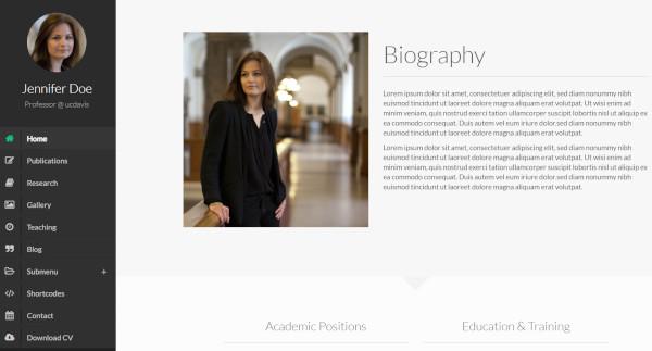 faculty bootstrap wordpress theme