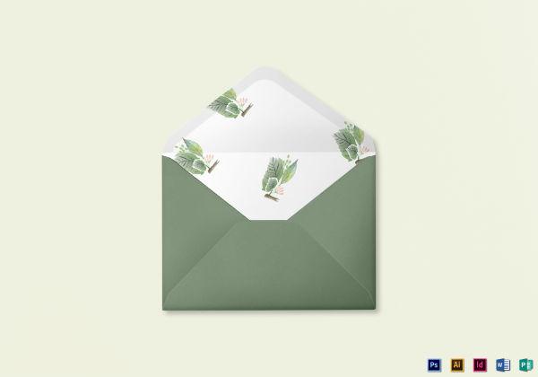fall wedding card envelope template