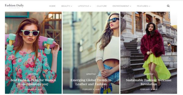 Fashion Daily - Retina Ready WordPress Theme