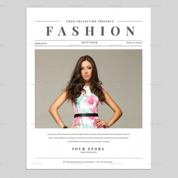 Fashion Newspaper Flyer Sample