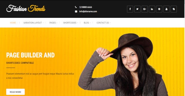 Fashion Trends - SEO Friendly WordPress Theme