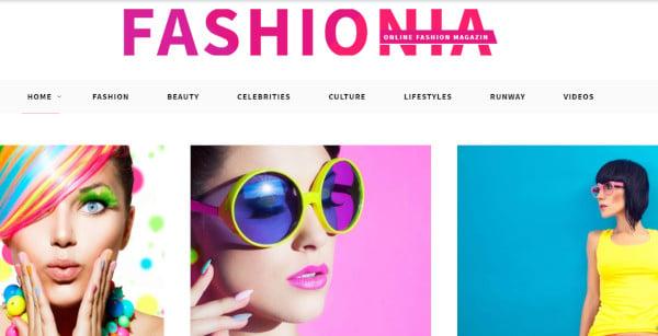 fashionia custom wordpress theme