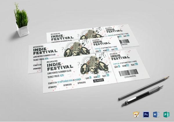 festival concert ticket template