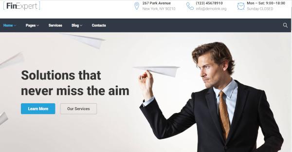 finexpert wordpress theme for tax advisor