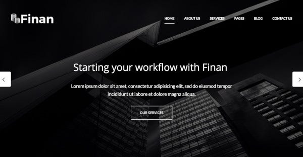 Finan - SEO–Friendly WordPress Theme