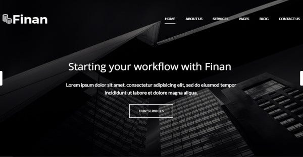 Finan- WordPress Theme For Business And Finance Support