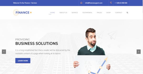 Finance + - WPML Compatible WordPress Theme