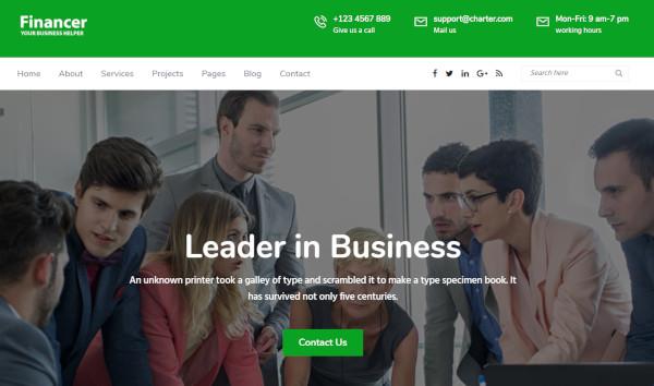 financer – cross browser friendly wordpress theme