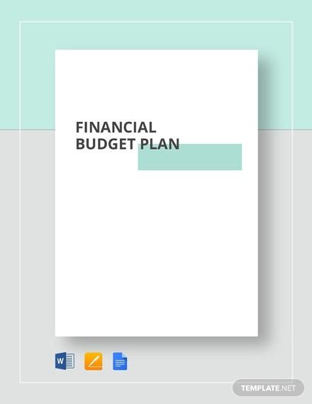 financial budget plan