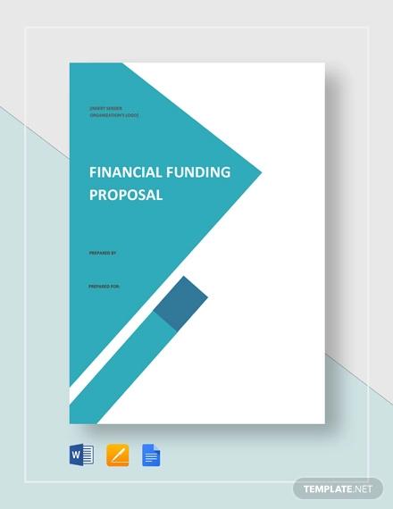financial funding proposal template