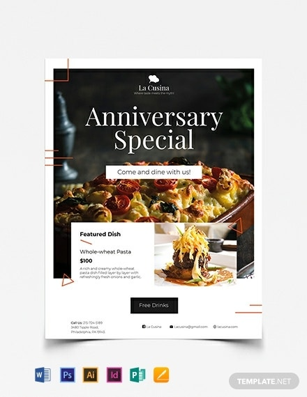fine restaurant business flyer sample