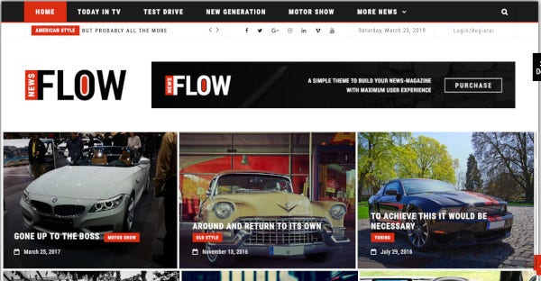 flow news – woocommerce wordpress theme